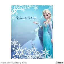 Personalized Invitation Card For Birthday Frozen Elsa Thank You 4 25x5 5 Paper Invitation Card Frozen