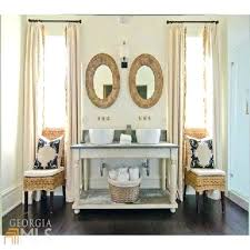 Cottage Style Chairs by Vanities White Wicker Vanity Bench Cottage Style Bathroom With