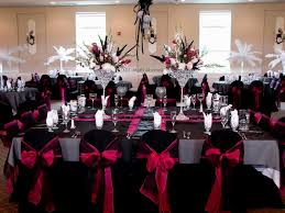 pink and black wedding theme color decorating of party
