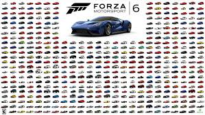 all the cars forza 6 goes gold 460 cars revealed in all racing central