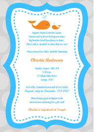 whale baby shower invitations amazing whale baby shower invitations to create your own baby
