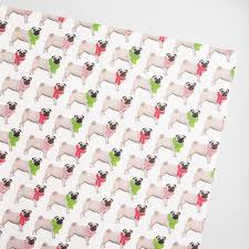 pug wrapping paper jumbo rows of pugs wrapping paper roll world market