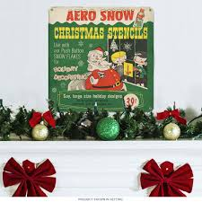 aero snow christmas stencils santa steel sign holiday signs
