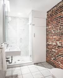bathroom design boston bathroom renovation with an exposed brick wall bath