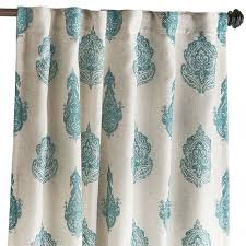 Teal Curtains Rambagh Paisley Teal Curtain Pier 1 Imports