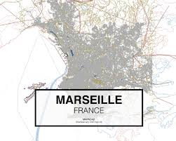 Marseille France Map by Marseille Dwg Mapacad