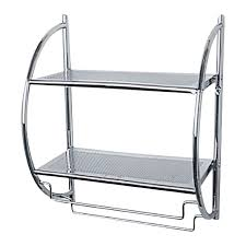 Bathroom Chrome Shelves Bathroom Bathroom Shelves With Baskets New At Extraordinary