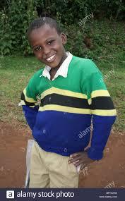 Tanzanian Flag Tanzanian Schoolboy Of The Chagga Tribe Wearing Tanzanian Flag