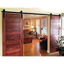 Barn Door Hardware Interior Amazon Com Winsoon 8ft Antique Double Sliding Barn Door Hardware