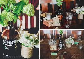 Beer Centerpieces Ideas by Love The Use Of Local Brewery Bottles And Growlers At This San