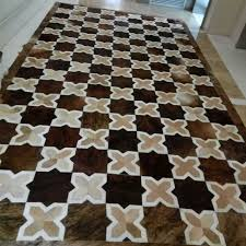 Cowhide Area Rugs Aliexpress Com Buy Light Yellow Brown X Style Modern Sewing