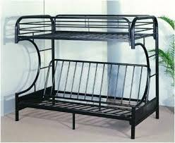 C Bunk Bed Futon C Style Metal Bunk Bed Black Pacific Imports Inc