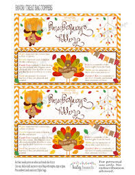 happy thanksgiving blessing thanksgiving blessing mix treat bags thanksgiving toppers happy