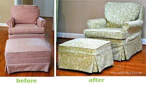 ottoman slipcover for armchair and ottoman sure fit cotton duck