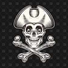 skull in pirate hat and crossbones vector image 94306 u2013 rfclipart