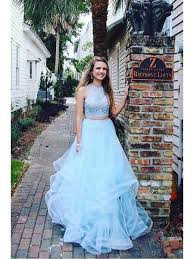light blue formal dresses two pieces light blue lace tulle long prom dresses formal evening