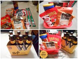 manly gift baskets running away i ll help you pack themed birthday gift manly