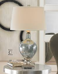 lighting mercury glass table lamp vintage glass lamp shade