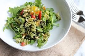 pasta salad pesto pesto pasta salad hip foodie mom