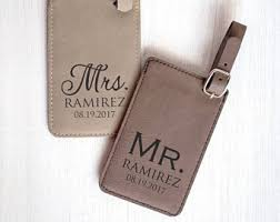 and groom luggage tags mr mrs luggage tag etsy