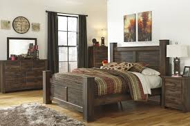 king poster bedroom set rustic poster bedroom set in dark brown