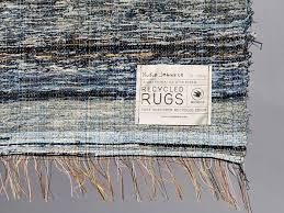 Indigo Home Decor Nudie Jeans Post Recycle Rag Rug Shuttle Loom Indigo Denim Denim