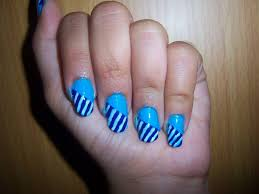 easy beginner blue white nail art by the crafty ninja youtube