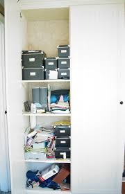 Organizing A Closet by Making A Home Office From A Closet Heartworkorg Com