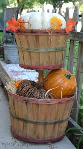 Home Made Fall Decorations Diy Tiered Bushel Baskets For Your Fall Porch My Creative Days