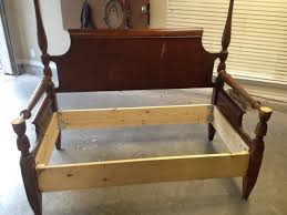 How To Make Your Own Headboard And Footboard How To Make A Bench From An Old Headboard Footboard Snapguide