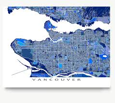 British Columbia Canada Map by Vancouver Map Art Print British Columbia Canada Blue U2013 Maps As Art