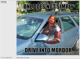 one does not simply walk into mordor know your meme