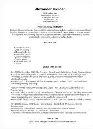 customer service resume 1 customer service representative resume templates try them now