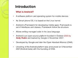 what is android os android operating system by udayan thakurdesai