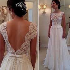 open back wedding dresses vintage lace wedding dress open back naf dresses