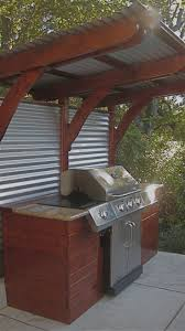 outdoor cooking spaces corrugated metal panel ideas google search ideas for the house