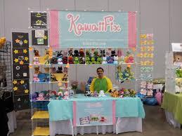 kawaii fox at awa great use of wire cubes display inspiration