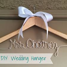 personalized wedding hangers diy wedding hanger