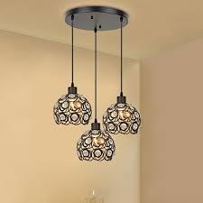 modern crystal pendant lamp 3 hanging lamps luxury home light