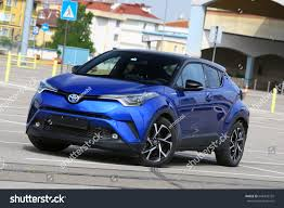 crossover toyota istanbul may new toyota chr hybrid stock photo 648335755