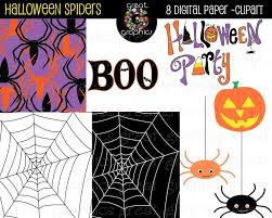 halloween spider web digital paper background spider clip art