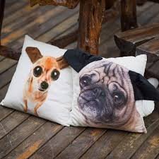 pug home decor special shaped ear cute pug dog big face pattern print custom home