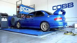 subaru gc8 interior cobb tuning dyno 300 whp 340wtq 1999 subaru 2 5rs gc8 sti