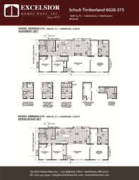 schult modular home floor plans schult timberland 6028 375 modular manufactured home
