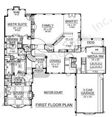 uffizi luxury floor plan courtyard house plan
