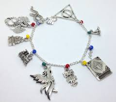 hand charm bracelet images Harry potter theme charm bracelet hand made with love and care jpg