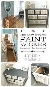 best 25 painting wicker ideas on pinterest painting wicker