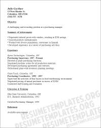 purchase resume purchasing manager resume template buying cv samples