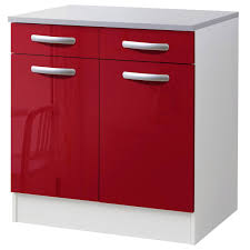 portes cuisine meuble de cuisine bas 2 portes 2 tiroirs brillant h86x