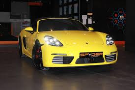 porsche spyder yellow spyder auto import